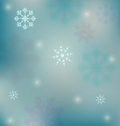 holiday winter background with snowflakes - vector image