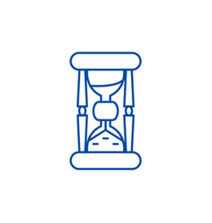 hourglass line icon concept hourglass flat vector image