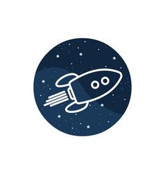 Icon space rocker vector