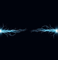 lightning bolts realistic vector image