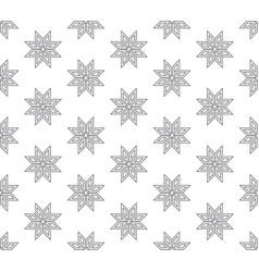 Line floral pattern seamless flora backdrop vector