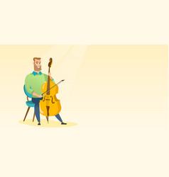 Man playing the cello vector