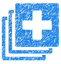 Medical documents grunge icon vector