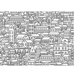 Outline town vector