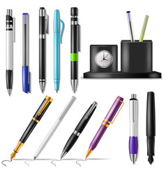 pen office fountainpen or business vector image