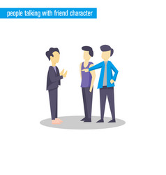 people talking character flat design vector image