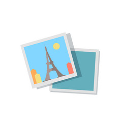 Picture from journey to paris with eiffel tower vector