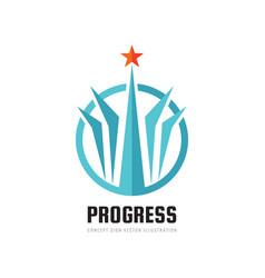 progress - abstract logo design elements vector image