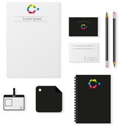 realistic mockups isolated on white background vector image