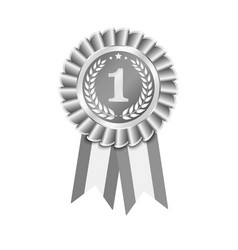 ribbons award 3d isolated on white vector image