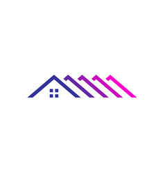 Roof top home house mortgage logo icon vector