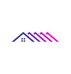 Rotop home house mortgage logo icon vector