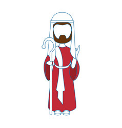Saint joseph cartoon vector