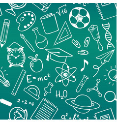 school education sketch drawing seamless pattern vector image