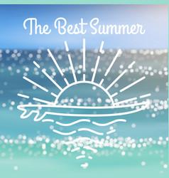 sea realistic banner vector image