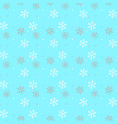 seamless a blue background with snowflakes in vector image