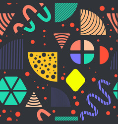 Seamless pattern made in memphis style vector