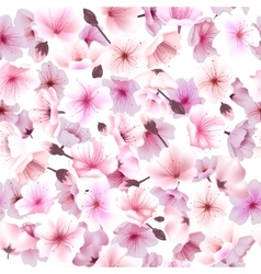 Seamless pattern with cherry blossom Blossoming vector