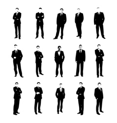set men silhouettes vector image