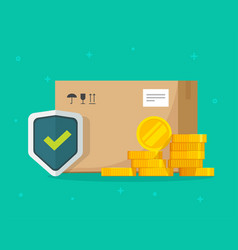 Shipping insurance freight cargo delivery and vector