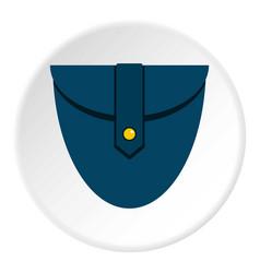 small blue pocket icon circle vector image