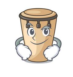 Smirking conga character cartoon style vector