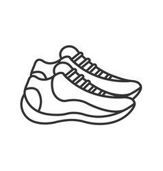 Sneakers linear icon vector