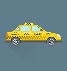Taxi cab service car vector