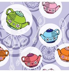 teapot pattern vector image