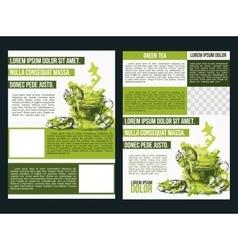 Two flyer green tea vector