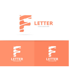 unique letter f logo design template vector image