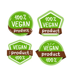 vegan food icon isolated logo vector image