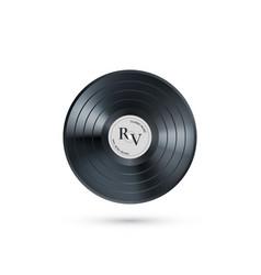 vinyl music record retro audio disk realistic vector image