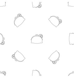 woman wallet pattern seamless vector image