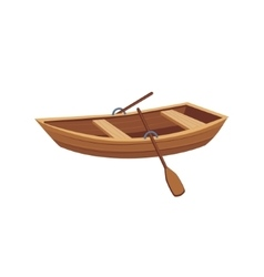Wooden Boat With Peddles vector