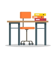 Workplace with Computer vector image vector image