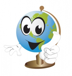 world cartoon vector image
