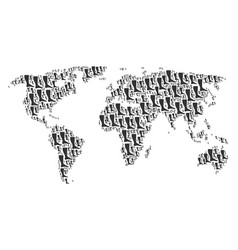 Worldwide atlas collage of leg items vector