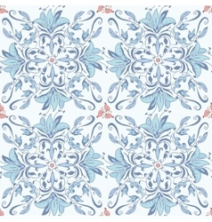 Abstract seamless floral kaleidoscopic pattern vector image vector image