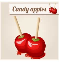 Detailed Icon Candy apples vector image