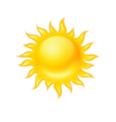 Hot yellow sun icon isolated vector image vector image