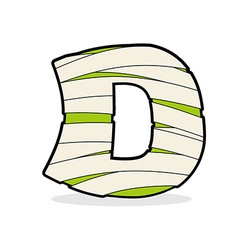 Letter D Mummy Typography icon in bandages vector image