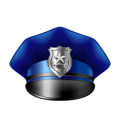 police hat isolated on white vector image vector image
