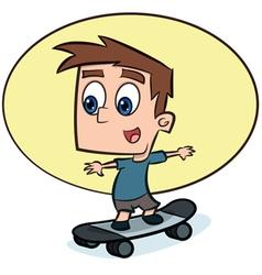 Boy on Skateboard vector image vector image