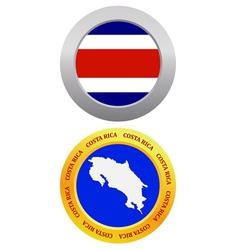 button as a symbol COSTA RICA vector image