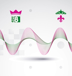 Creative 3d delicate background with abstract vector image