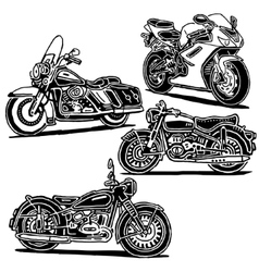 Motorcycles set vector image