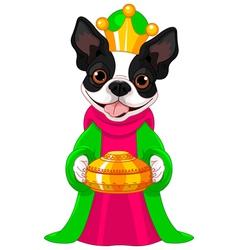 The Boston terrier as a Biblical Magi vector image vector image
