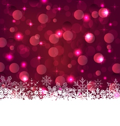 Christmas glowing background with snowflakes - vector image vector image
