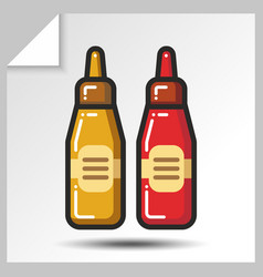 Fast food icons 9 vector